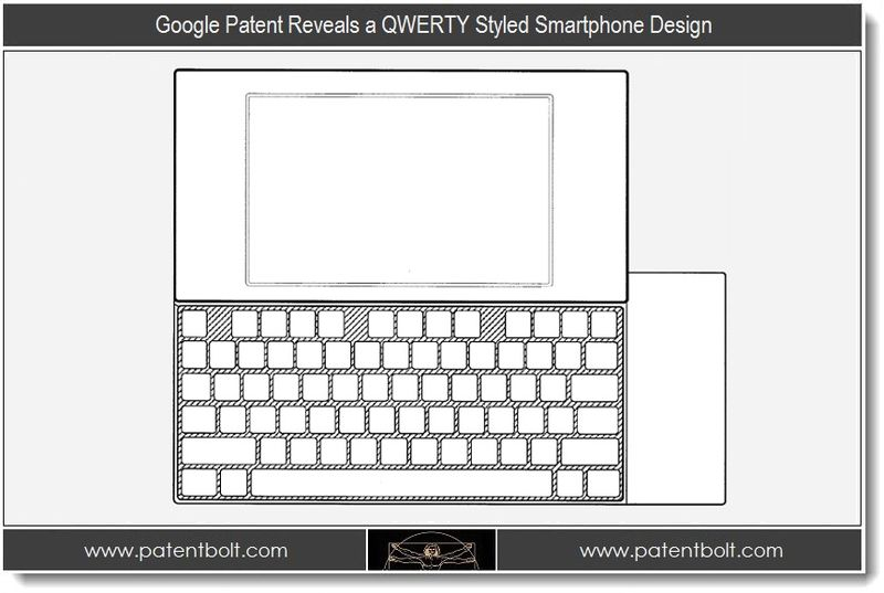 1 - Google Patent Reveals a QWERTY Styled Smartphone Design