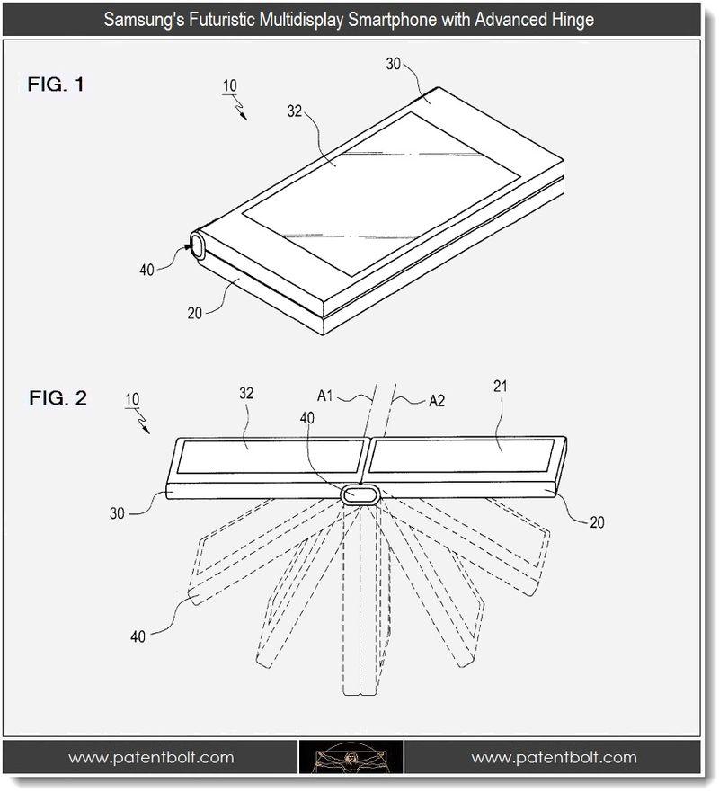 2. Samsung's Futuristic Multidisplay Smartphone with Advanced Hinge