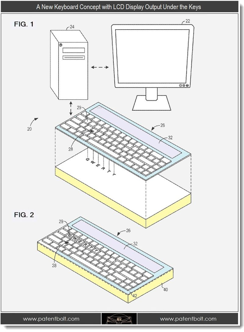 3 - A New Keyboard Concept with LCD Display Output under the display