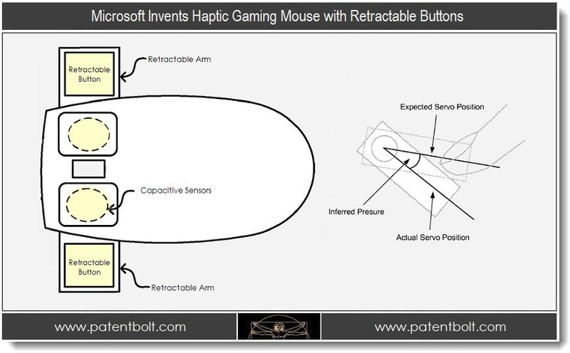 1. Microsoft Invents Gaming Mouse with Retractable buttons