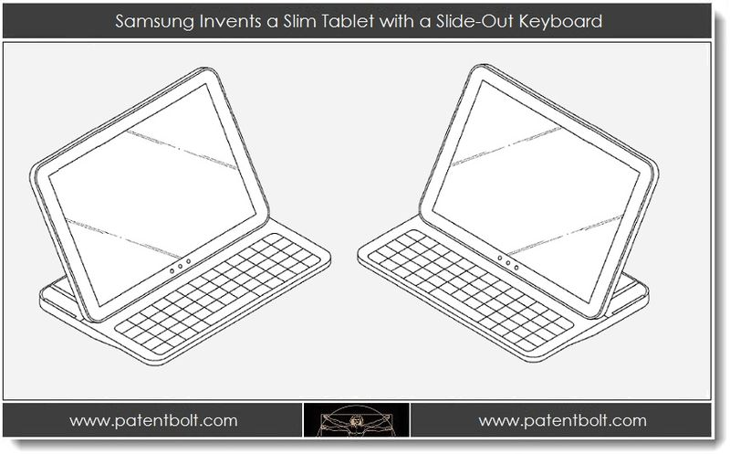 1. Samsung invents a slim tablet with Slide-Out Keyboard