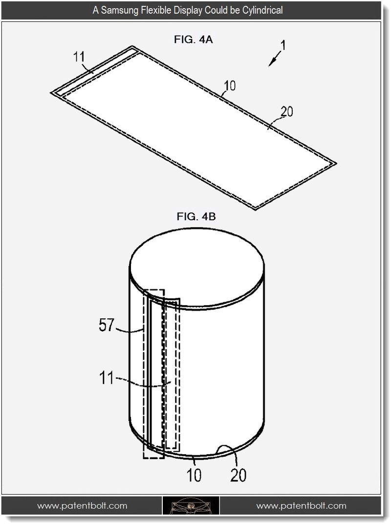 5 - A Samsung flexible display could be cylindrical