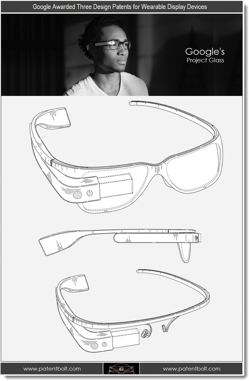 7. Google Awarded Three Design Patents for Wearable Display Devices