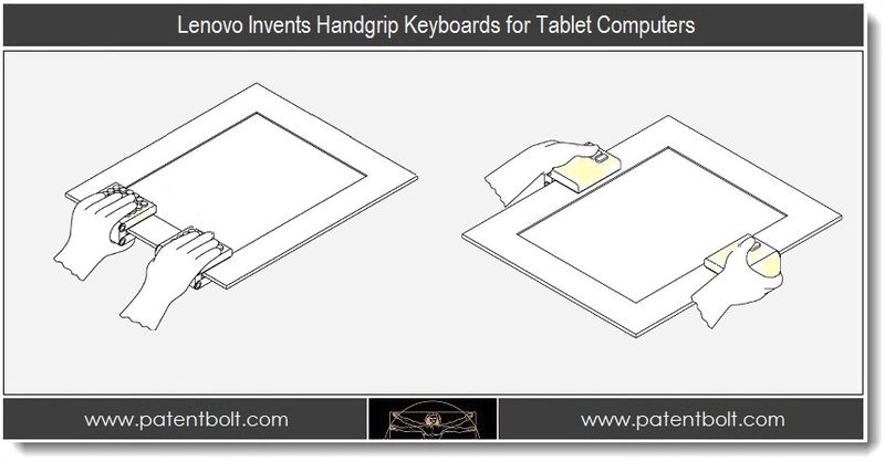 1. Lenovo Invents Handgrip Keyboards for Tablet Computers