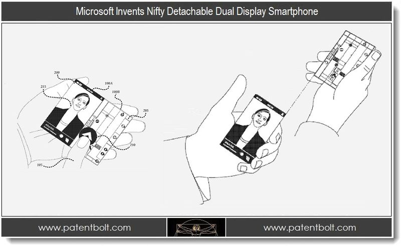 1. Microsoft Invents Nifty Detachable Dual Display Smartphone