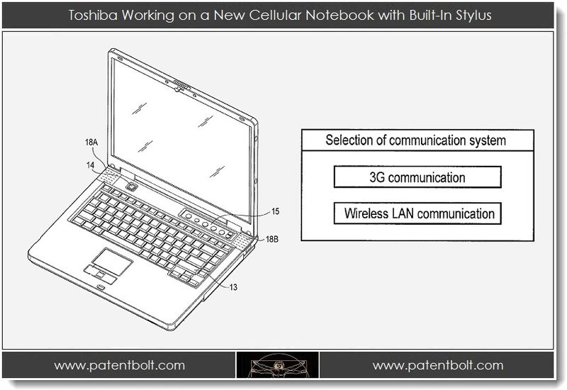 1. Toshiba Working on a New Cellular Notebook with Built-In Stylus