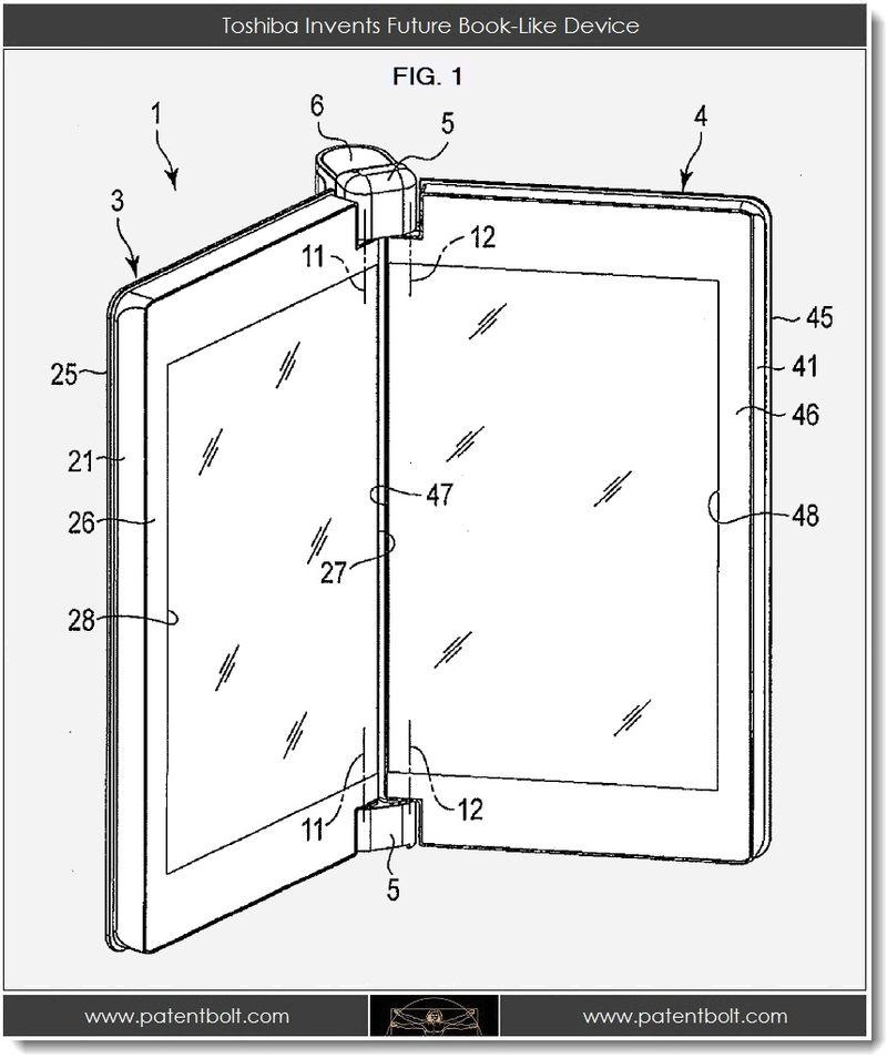 2. Toshiba invents future book-like device