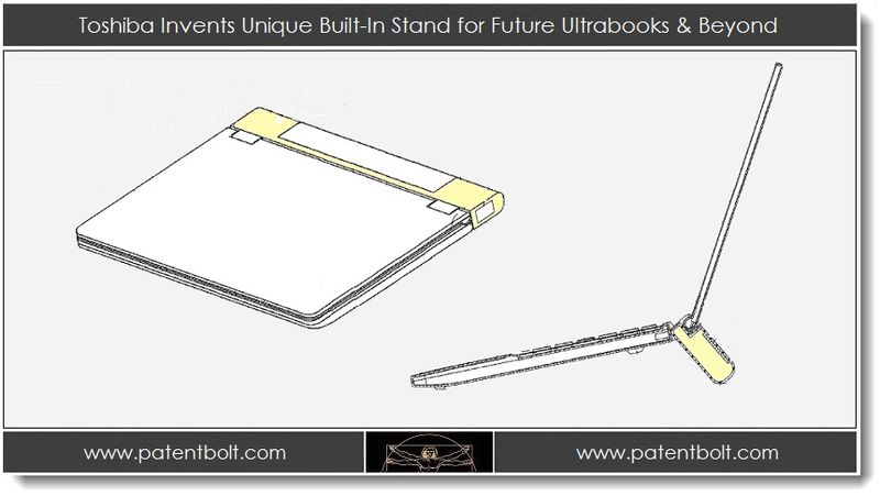 1. Toshiba Invents Unique built-in stand for future Ultrabooks & beyond