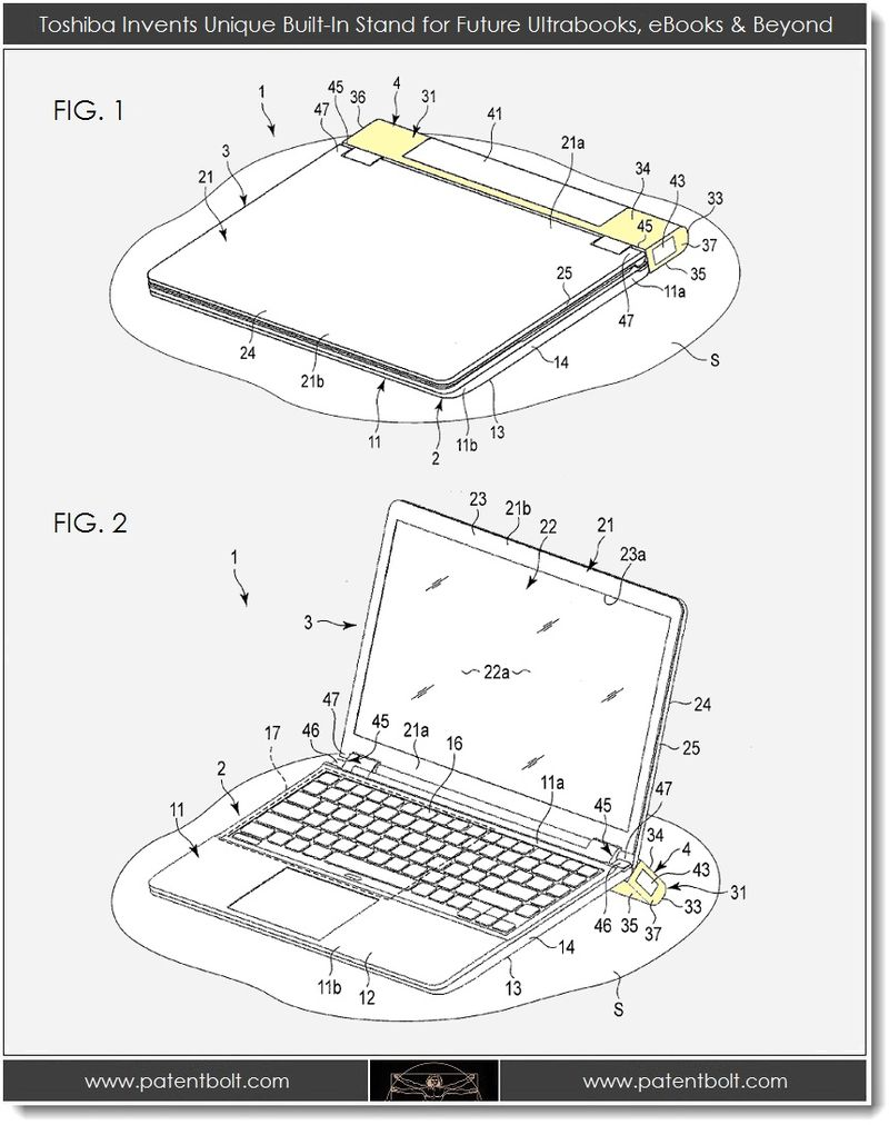 2. Toshiba Invents Built-In Stand for Future Ultrabooks, eBooks & Beyond - 1