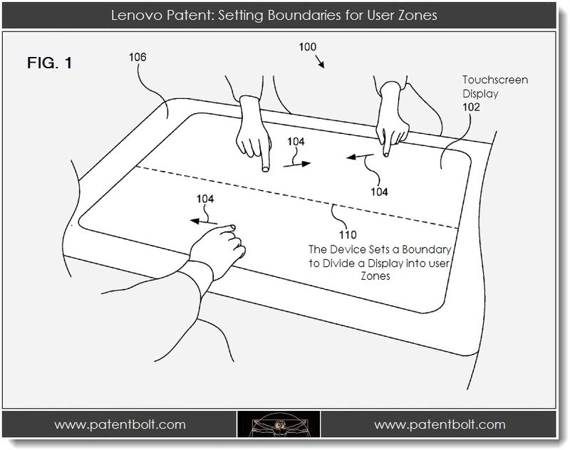 2. Lenovo patent - setting boundaries for user zones