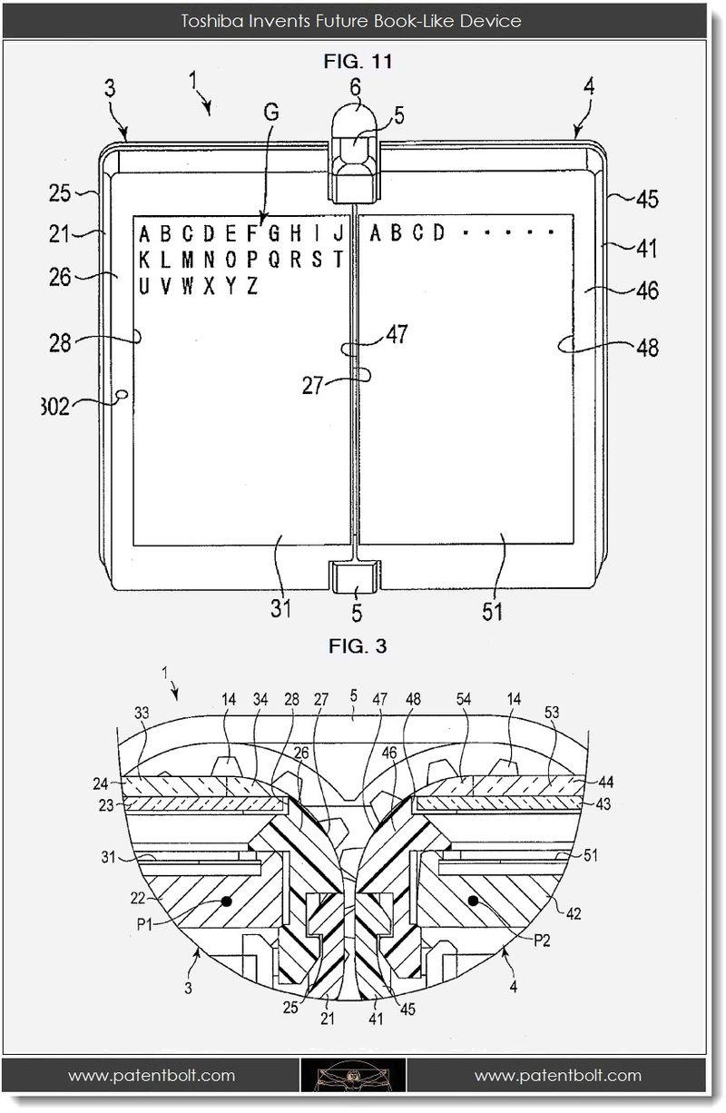 3. Toshiba invents future book-like device