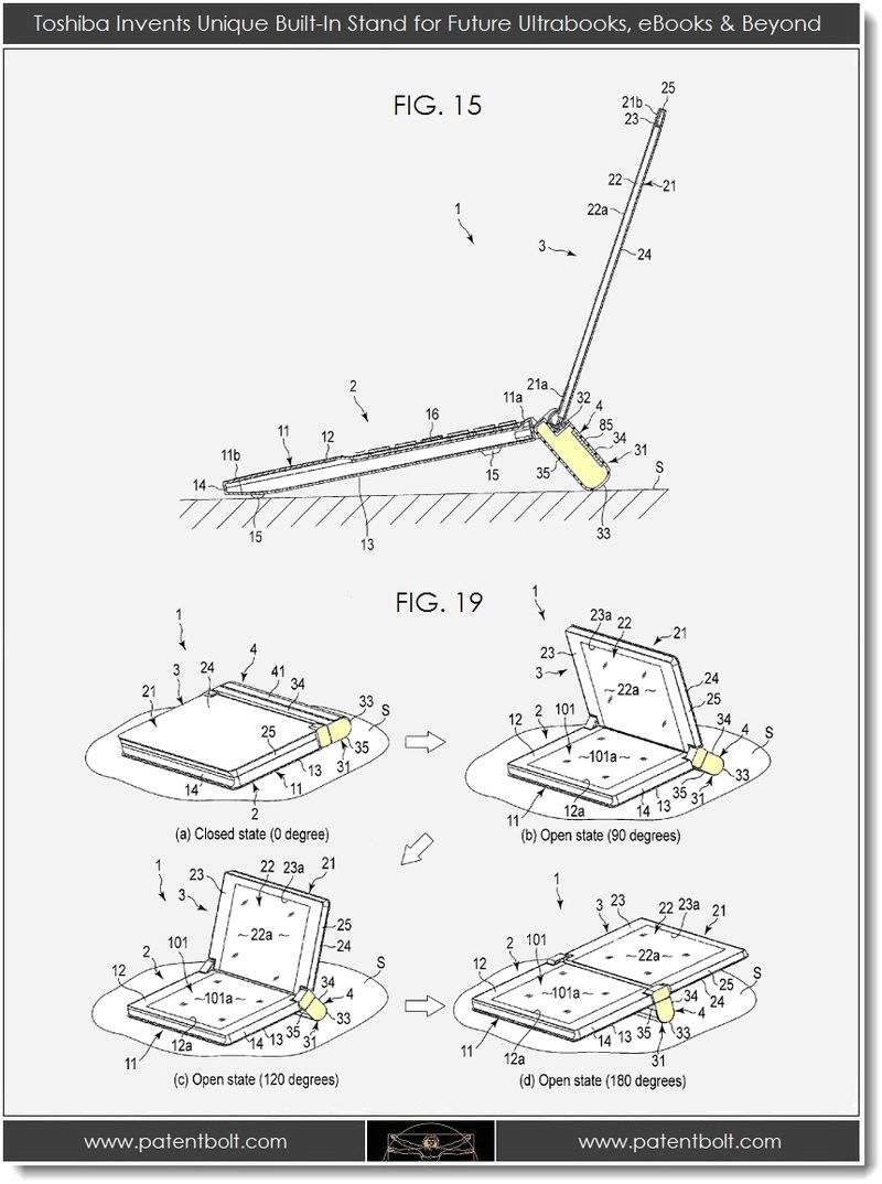 3. Toshiba Invents Built-In Stand for Future Ultrabooks, eBooks & Beyond - 2