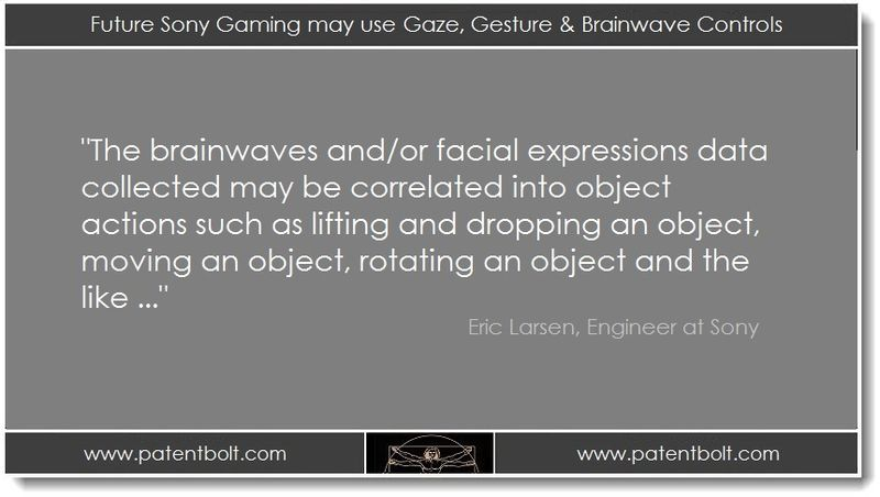 1 PB. Future Sony Gaming may use Gaze, Gesture & Brainwave Controls