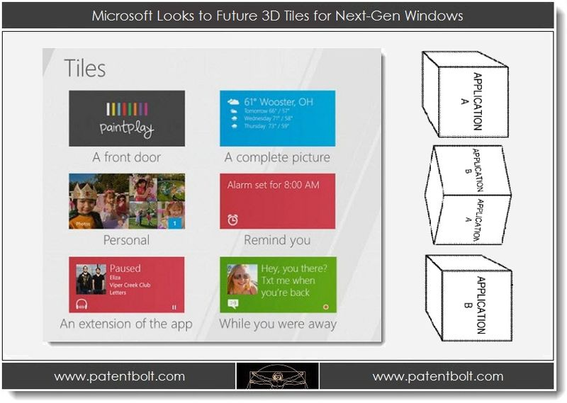 1. Microsoft Looks to Future 3D Tiles for Next-Gen Windows