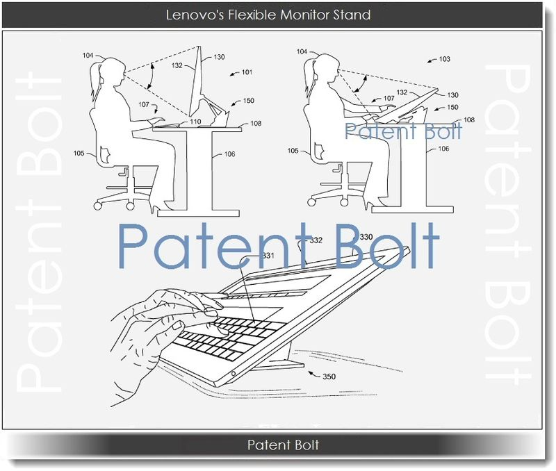 2A. Lenovo's Flexible Monitor Stand Patent Figures Q4 2012
