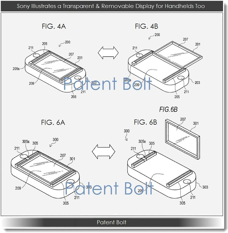 4. Sony, transparent & removable displays will apple to handhelds too