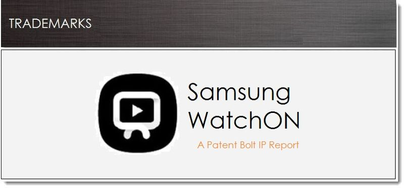 1. Cover, Samsung files for WatchON TM, Mar 15, 2013