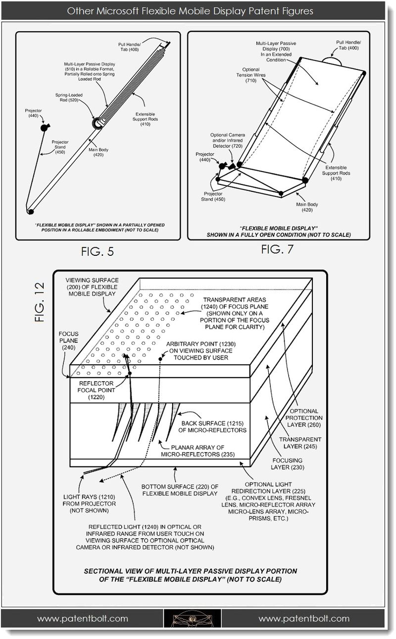 4. Other Microsoft Flexible Mobile Display Patent Figures
