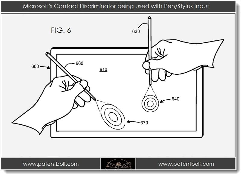 3. Msft contact discriminator used with pen stylus input