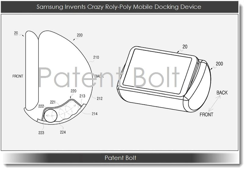 1.1 Samsung Invents Crazy Roly-Poly Mobile Docking Device