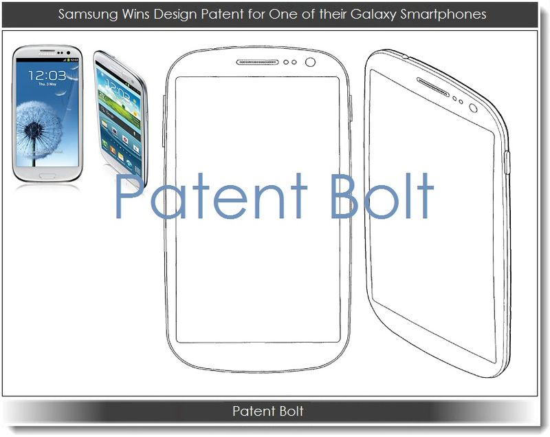 1. Samsung wins design patent for one of their Galaxy Smartphones