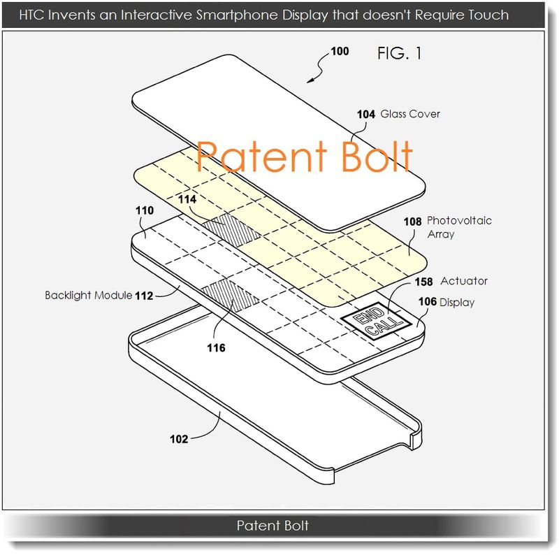 3. Another HTC Patent figure breaking down the display with photovoltiac array