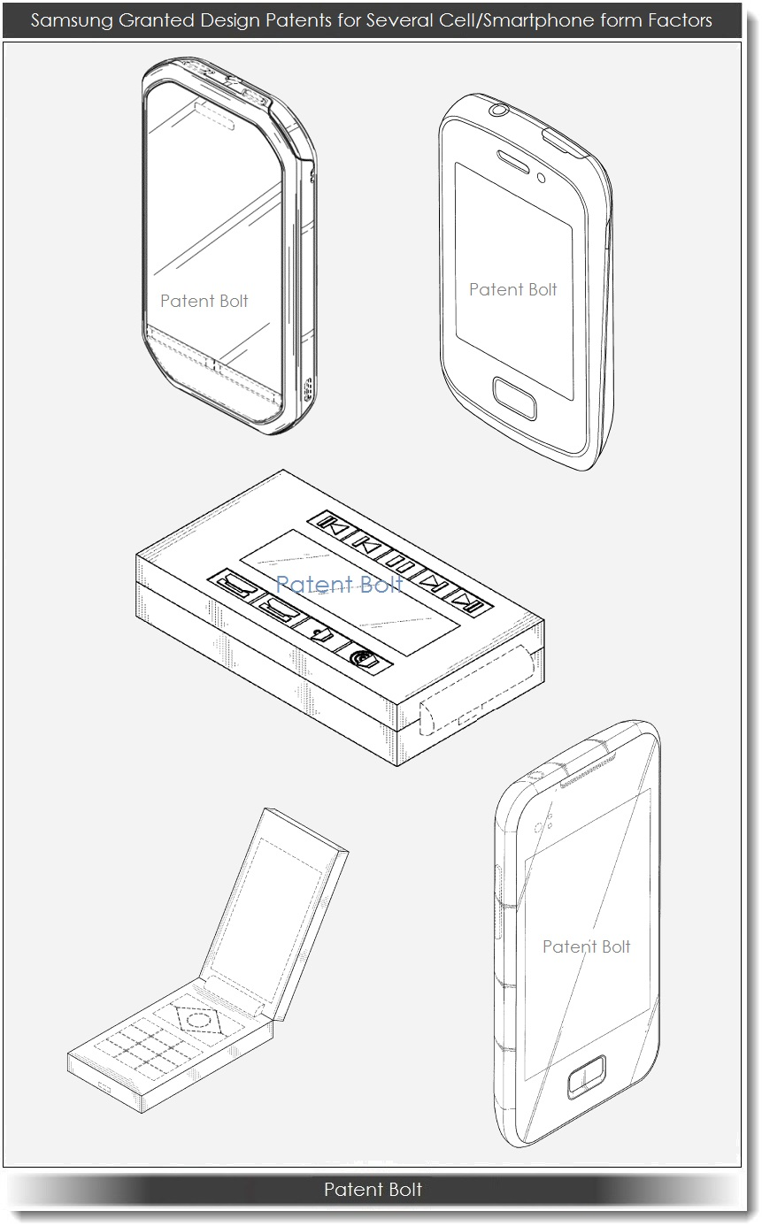 Samsung Wins More Design Patents Covering a Tablet, Phones