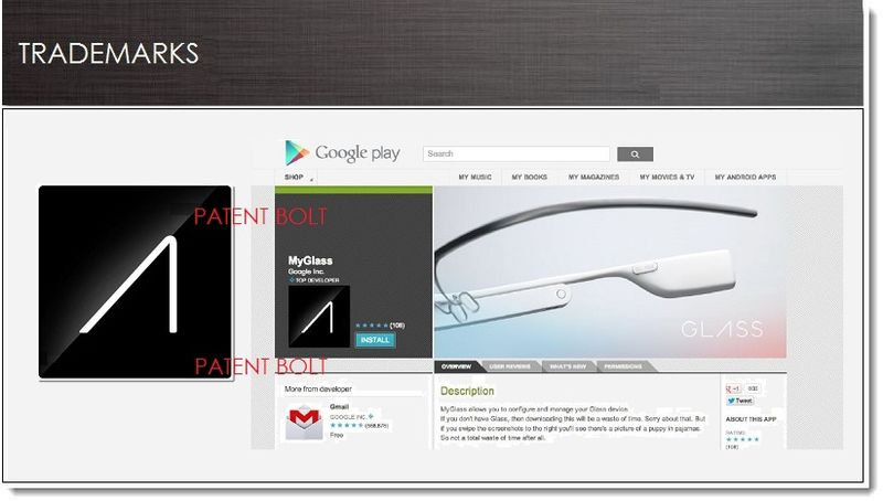 1. COVER - Google files for MyGlass TM