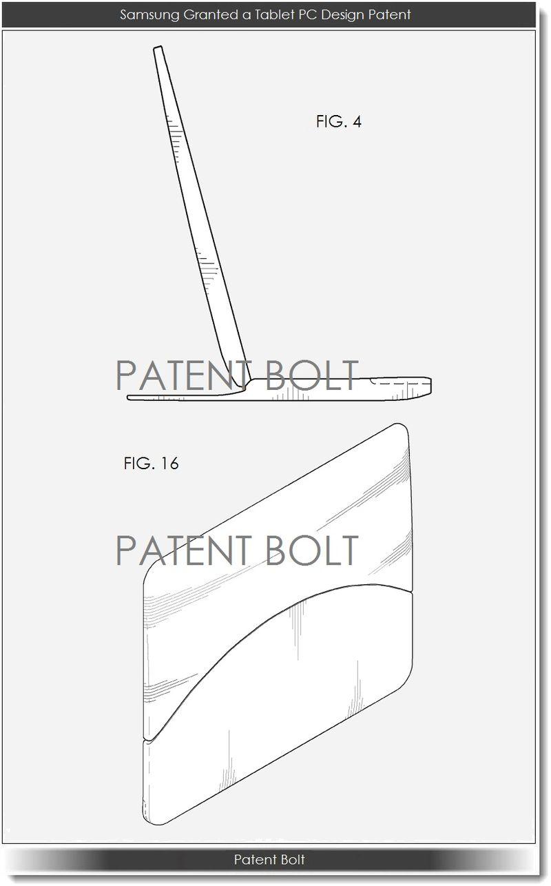 5. Samsung Granted Tablet PC design patent