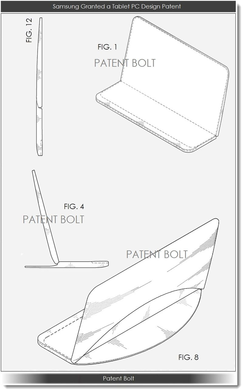 4. Samsung is Granted a Tablet PC Design Patent