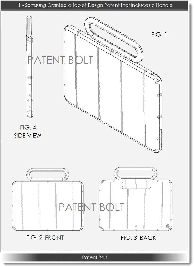 2. Samsung Tablet Design Patent # 1