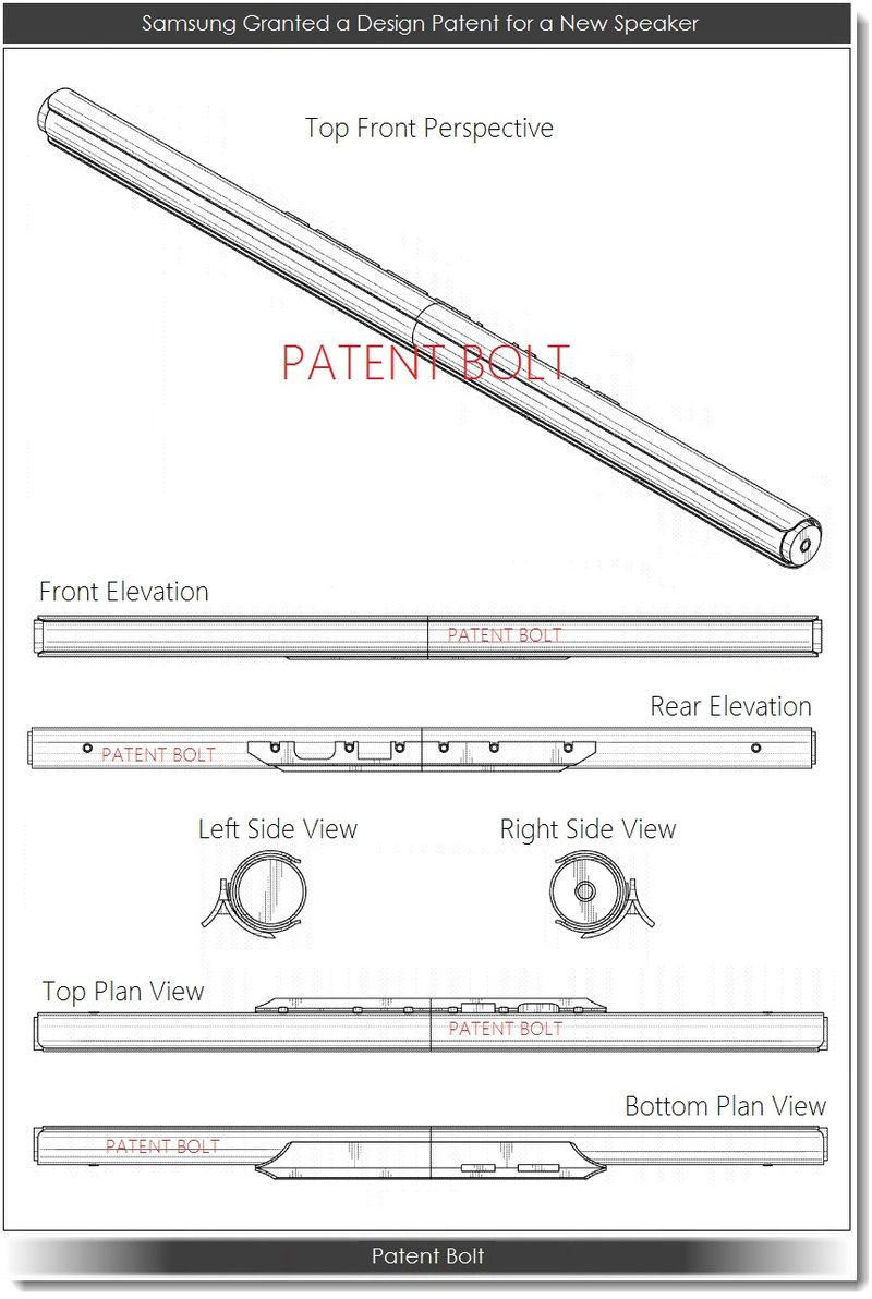 4. Samsung Granted a Design Patent for a Speaker
