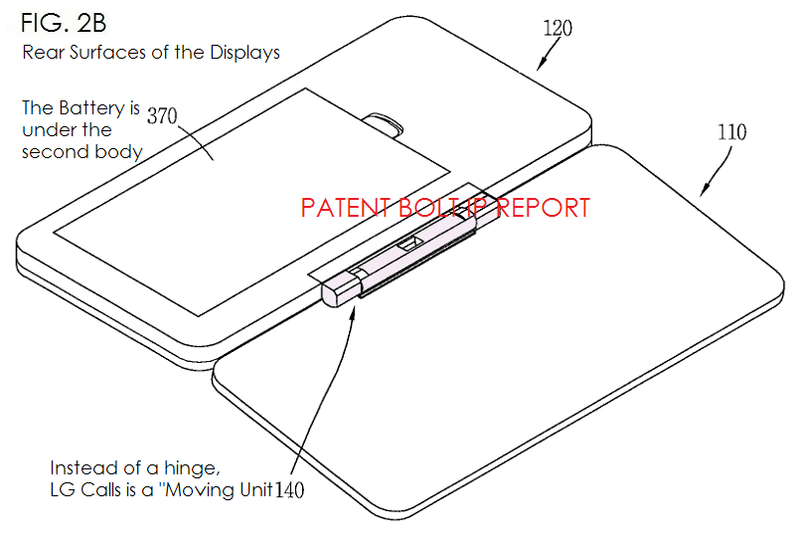 3. LG Patent filing for dual display smartphone form factor