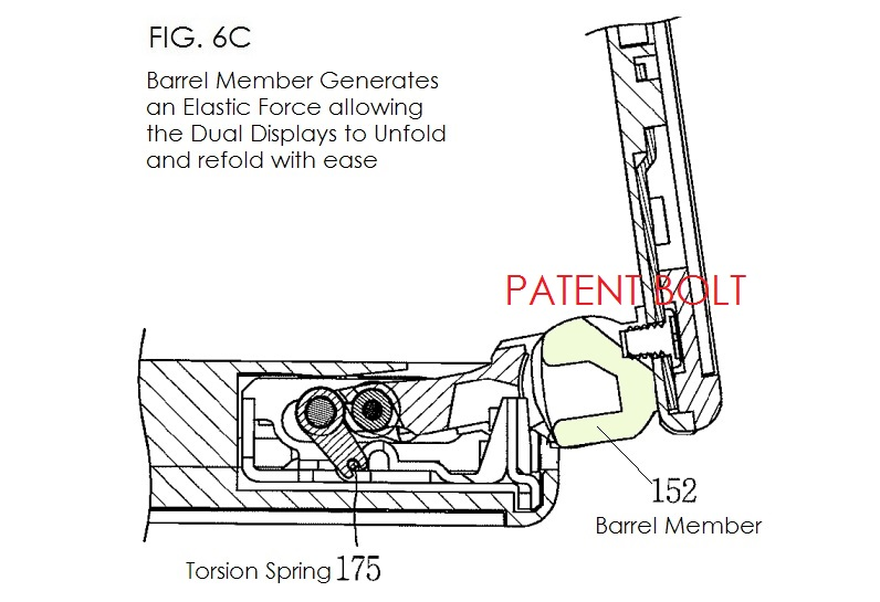 4. LG Patent for dual display smartphone - fig. 6C barrel member part of moving-unit