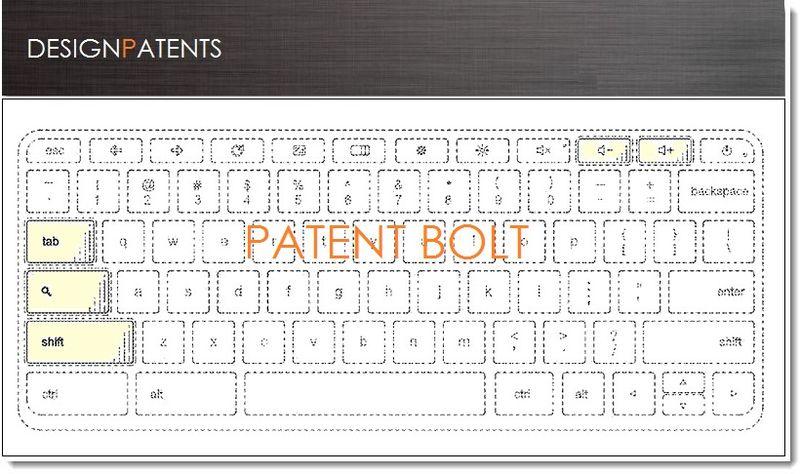 1. Google Granted Keyboard Design Patent June 18, 2013