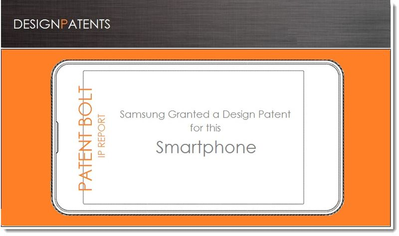 1. Cover - Samsung granted a design patent for a smartphone June 19, 2013