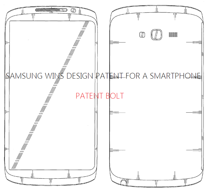 2. Samsung Granted a Design Patent for a smartphone - Face, Back