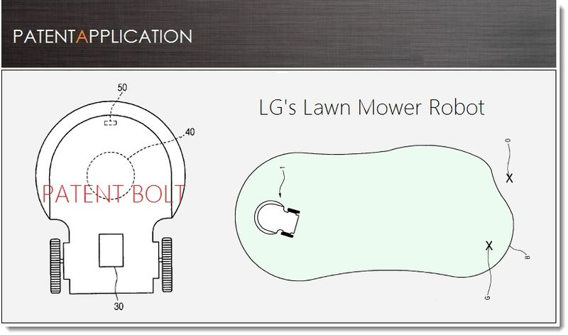 1. LG Patent application for a Lawn Mower Robot
