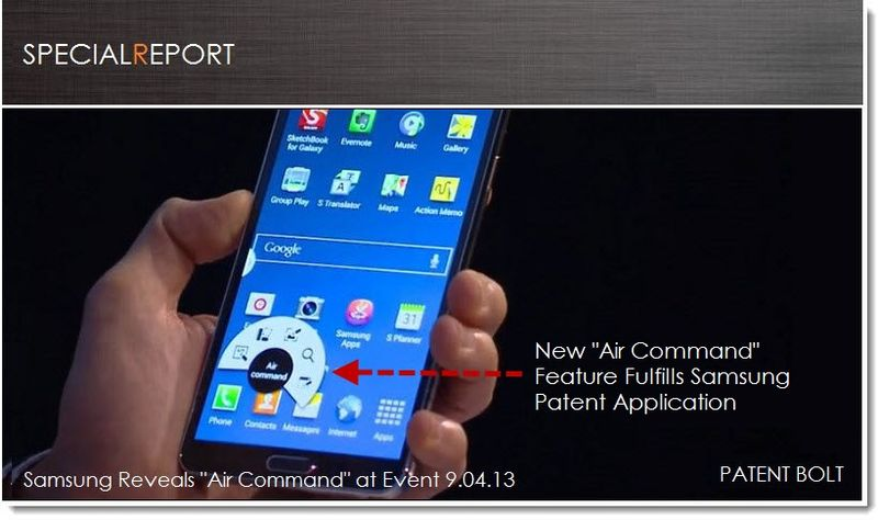 1A. Cover - Samsung's new Air Command fulfills patent