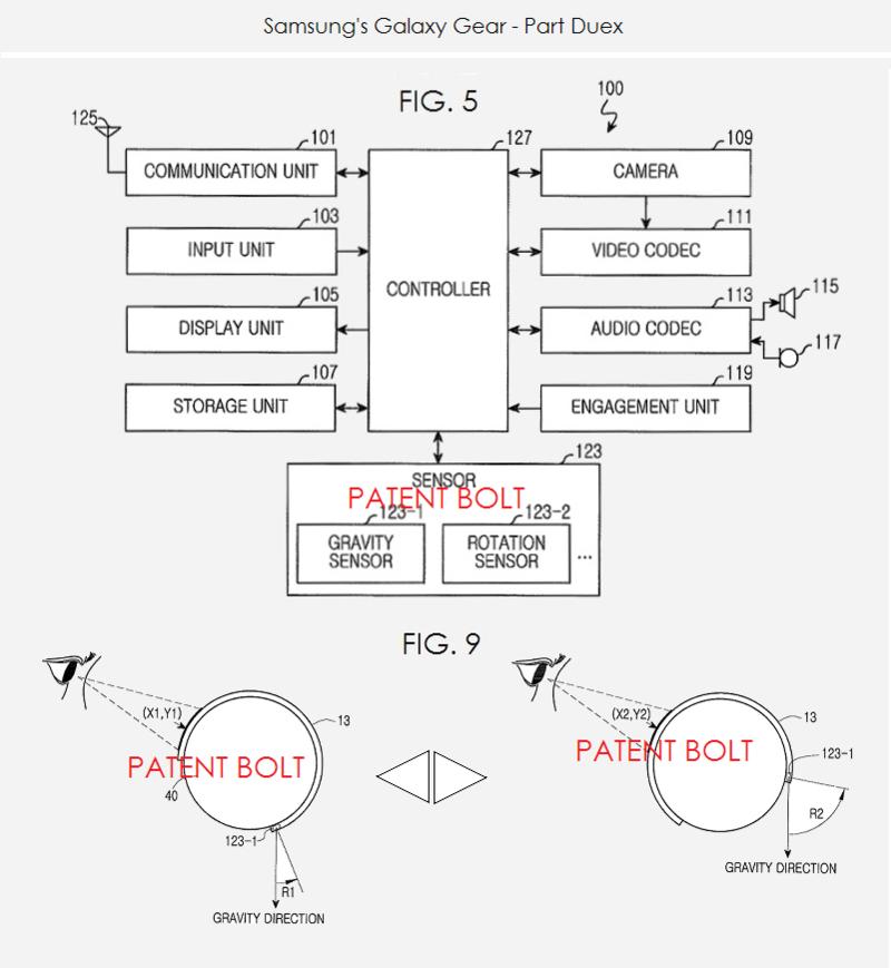 4. Samsung's Galaxy Gear - Part Duex - figs 5 & 9