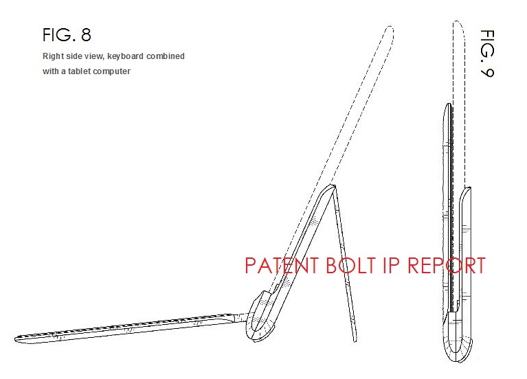 6. Samsung Design Patent for Tablet Keyboard and stand accessory