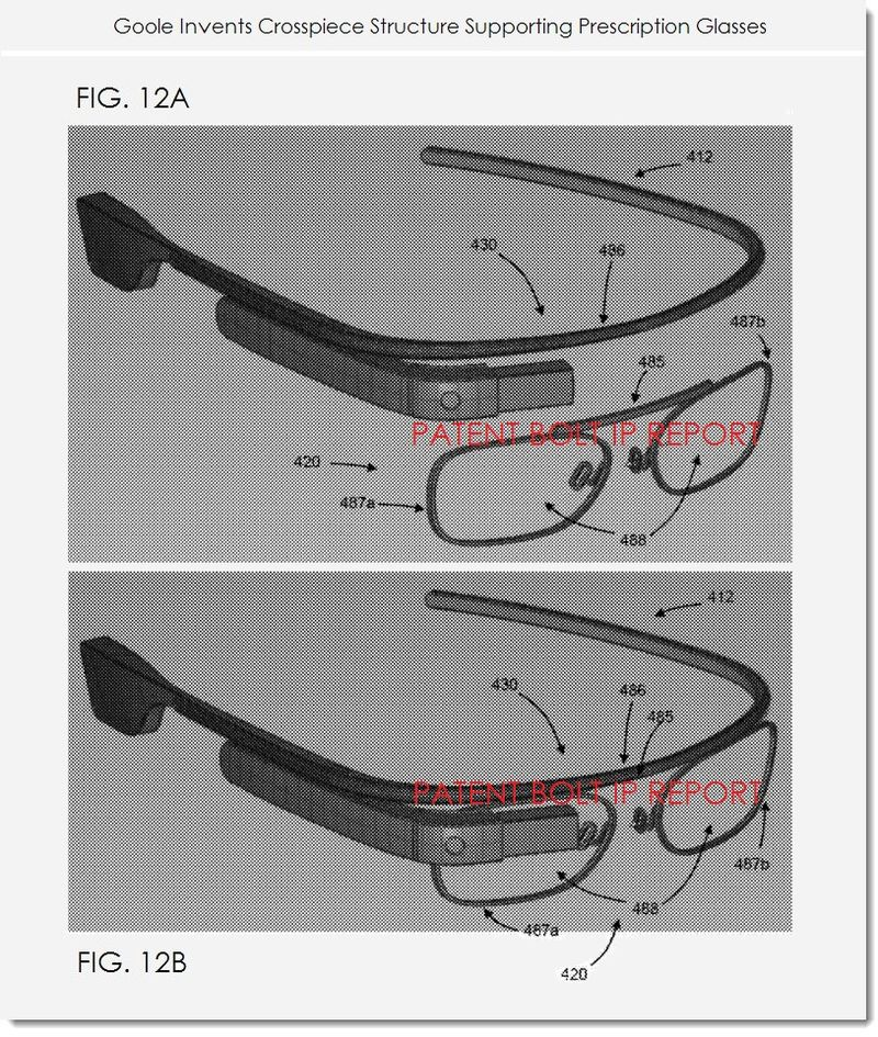 2. Google invents crosspiece structure for prescription glasses