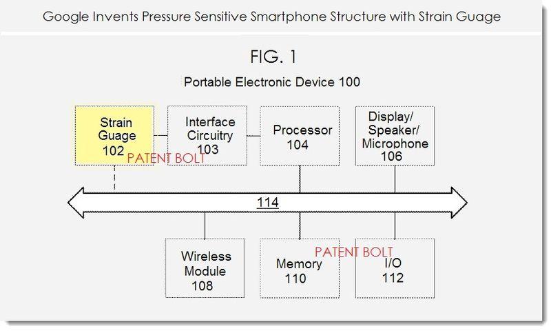 2AA. Google invention - pressure sensitive smartphone casing fig. 1