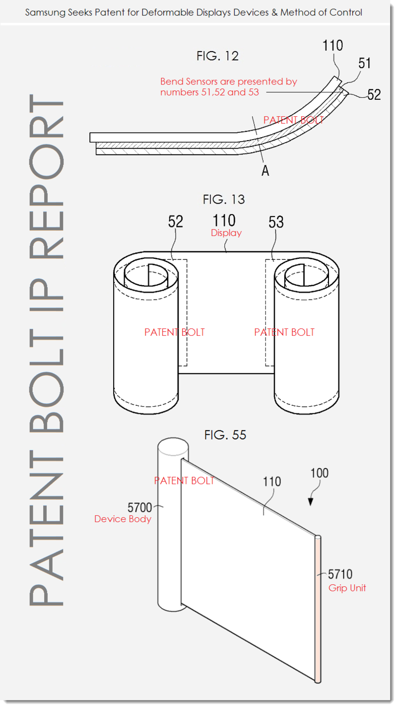 3. Samsung patent - flex displays