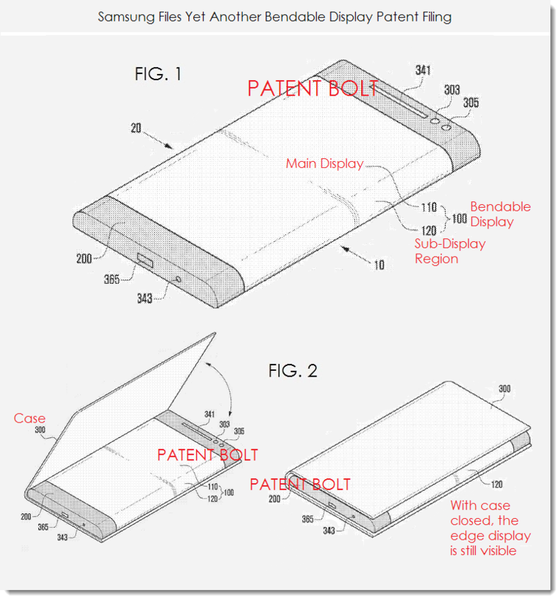 2. Samsung bendable diplay patent Nov 18, 2013 - figs 1 & 2