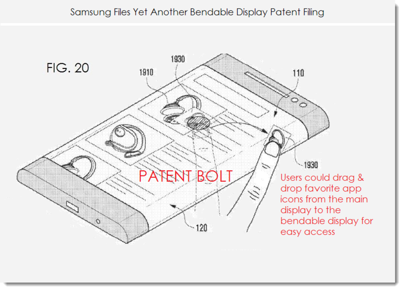 3. Samsung patent fig 20 bendable display