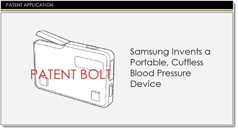 1. Samsung - portable blood pressure device patent application