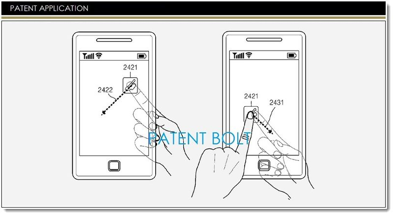 1. Samsung invents backside controls for devices with  a transparent display