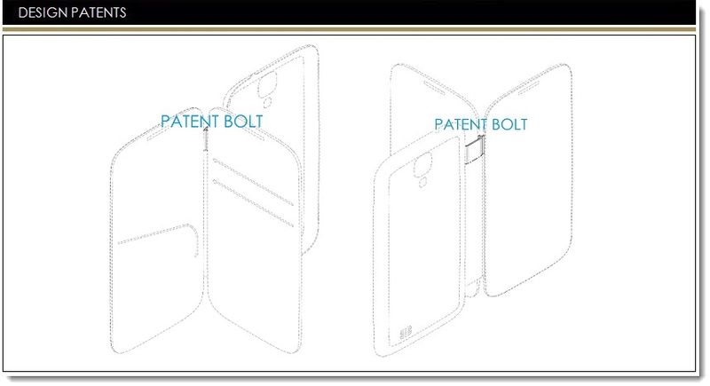 1A. Cover - Samsung Granted design patent for new eWallet Styled smartphone case