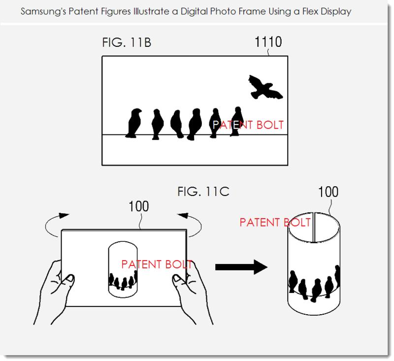 4. Samsung patent figs 11b, c digital photo frame example